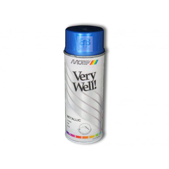 Very Well metál kék festék spray 400ml