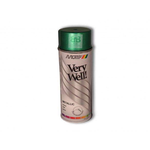 Very Well metál zöld festék spray 400ml