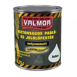 Valmor Biztonságos padló-jelölőfesték Fehér 0,75L