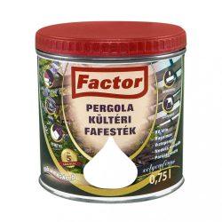 FACTOR Pergola kültéri fafesték fehér 0,75L