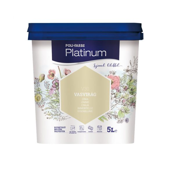 Poli-Farbe Platinum Vasvirág 5L