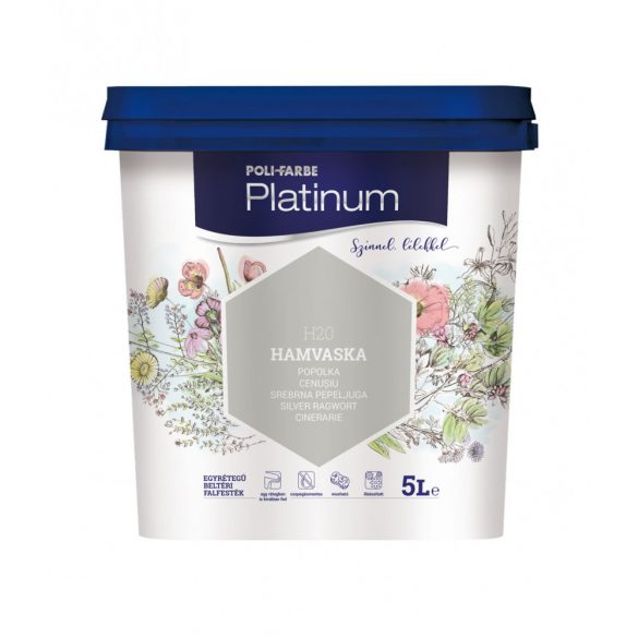 Poli-Farbe Platinum Hamvaska 5L