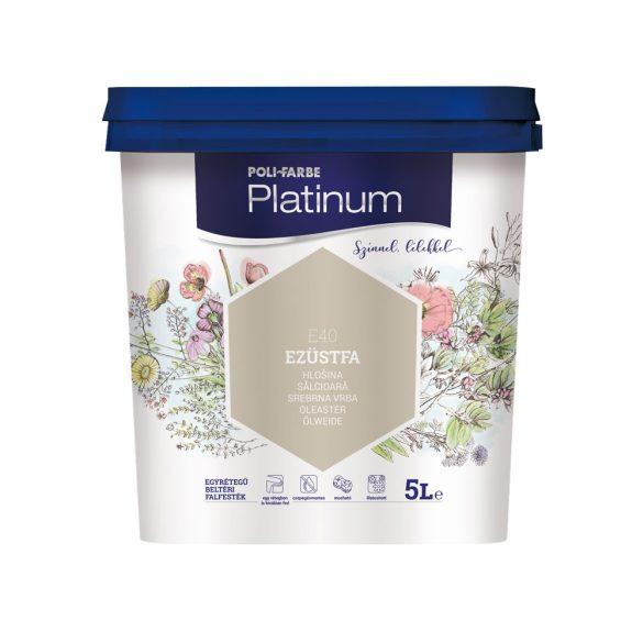 Poli-Farbe Platinum Ezüstfa 5L