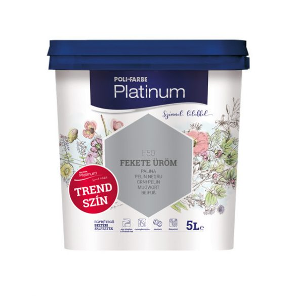 Poli-Farbe Platinum Fekete Üröm 5L