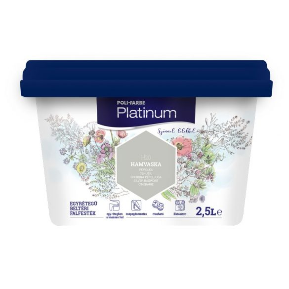 Poli-Farbe Platinum Hamuvirág 2,5L