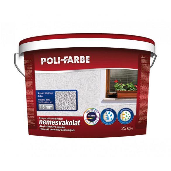 Poli-Farbe Vakolat 1,5 mm Fehér Kapart 25kg