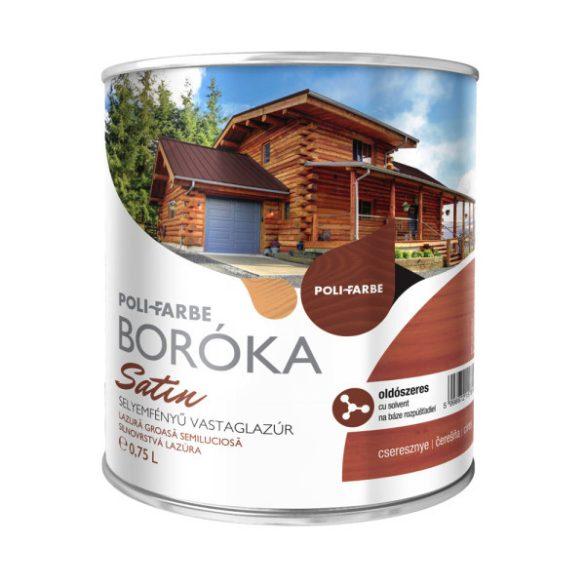 Poli-Farbe Boróka Satin Lazúr Cseresznye 0,75L