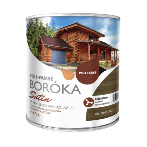 Poli-Farbe Boróka Satin Lazúr Dió 0,75L