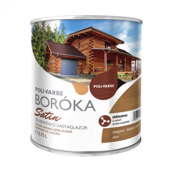 Poli-Farbe Boróka Satin Lazúr Mogyoró 0,75L