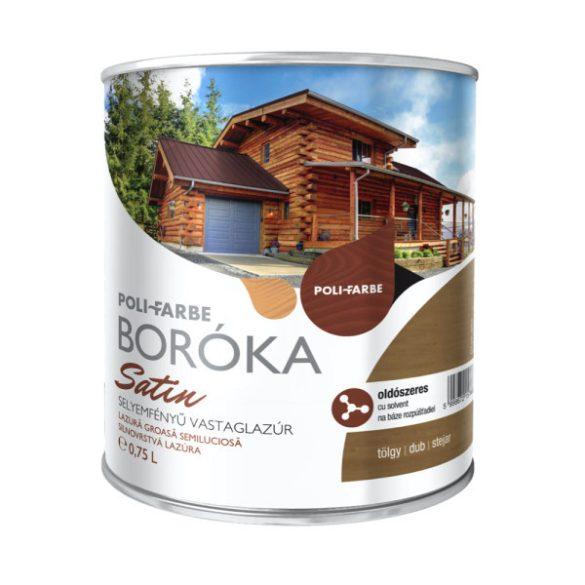 Poli-Farbe Boróka Satin Lazúr Tölgy 0,75L
