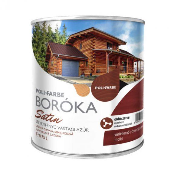 Poli-Farbe Boróka Satin Lazúr Vörösfenyő 0,75L