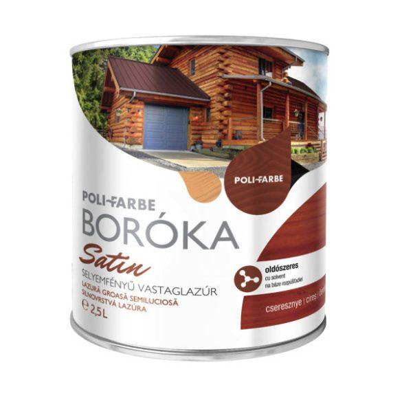 Poli-Farbe Boróka Satin Lazúr Cseresznye 2,5L