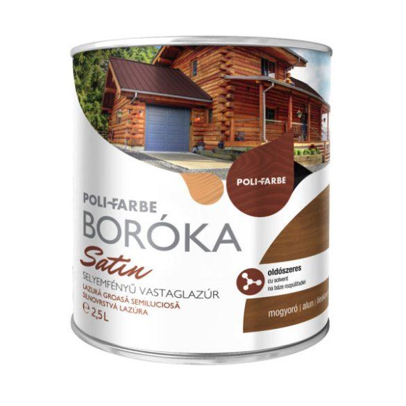 Poli-Farbe Boróka Satin Lazúr Mogyoró 2,5L