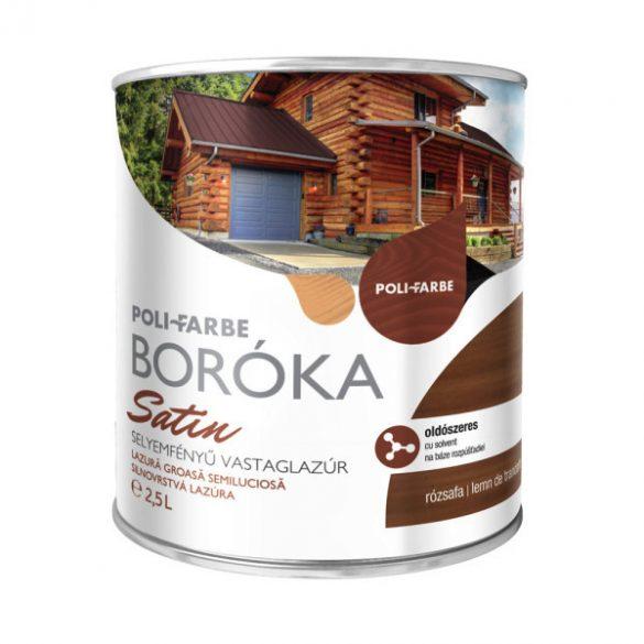 Poli-Farbe Boróka Satin Lazúr Rózsafa 2,5L
