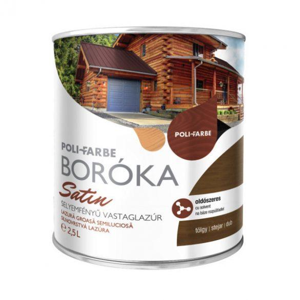 Poli-Farbe Boróka Satin Lazúr Tölgy 2,5L