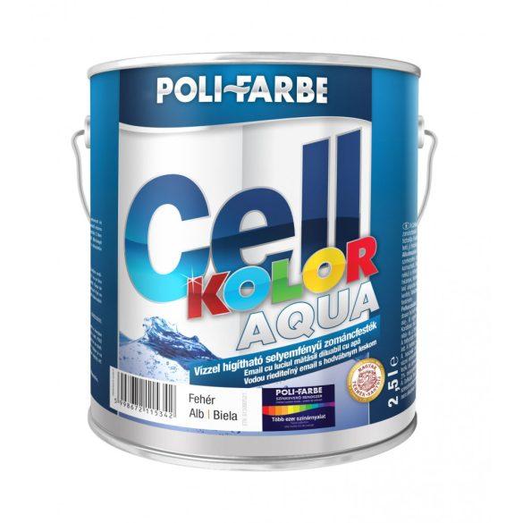 Poli-Farbe Cellkolor Aqua Selyemfényű Zománcfesték Fehér 2,5L