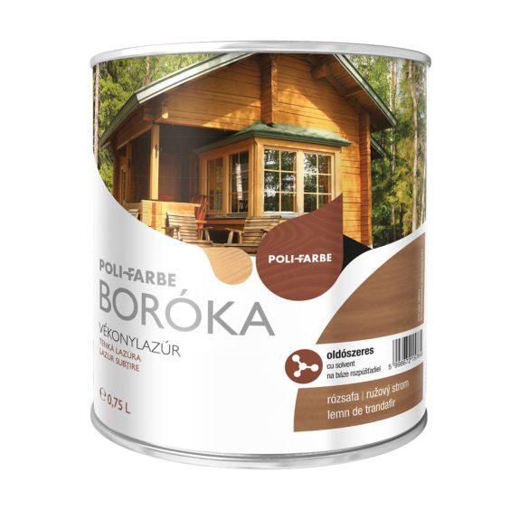 Poli-Farbe Boróka Oldószeres Vékonylazúr Rózsafa 0,75L