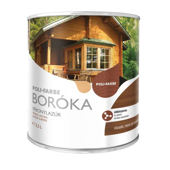 Poli-Farbe Boróka Oldószeres Vékonylazúr Rózsafa 2,5L