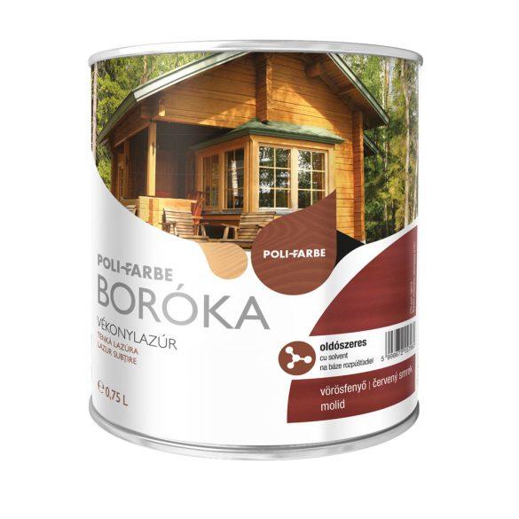 Poli-Farbe Boróka Oldószeres Vékonylazúr Vörösfenyő 0,75L