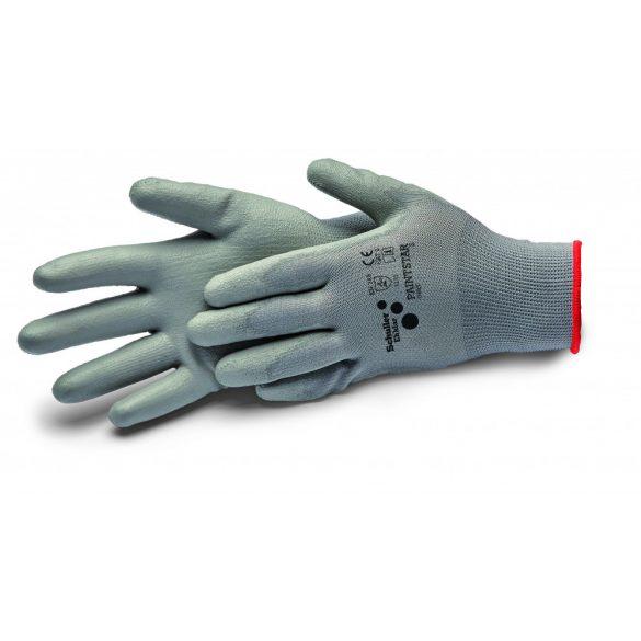 "Schuller Paintstar grey M/8"", kesztyű PU bevonattal, szürke, CAT2 - 4131"