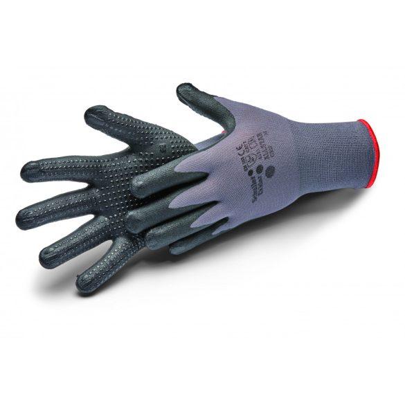 """Schuller Allstar Grip XL/10"""", kesztyű nitril bevonattal, pettyes felület, CAT2 - 4121"""