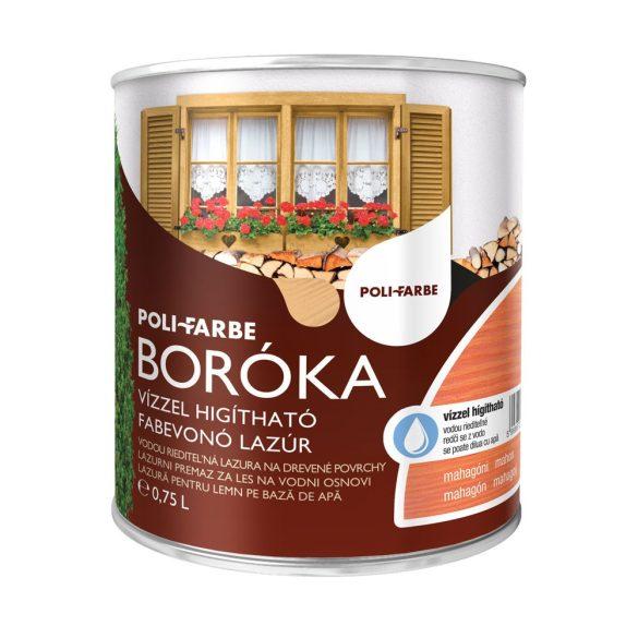 Poli-Farbe Boróka Lazúr Mahagóni 0,75L