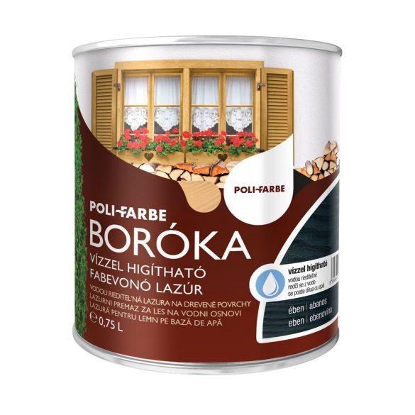 Poli-Farbe Boróka Lazúr Ében 0,75L