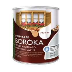 Poli-Farbe Boróka Lazúr Fehér 0,75L