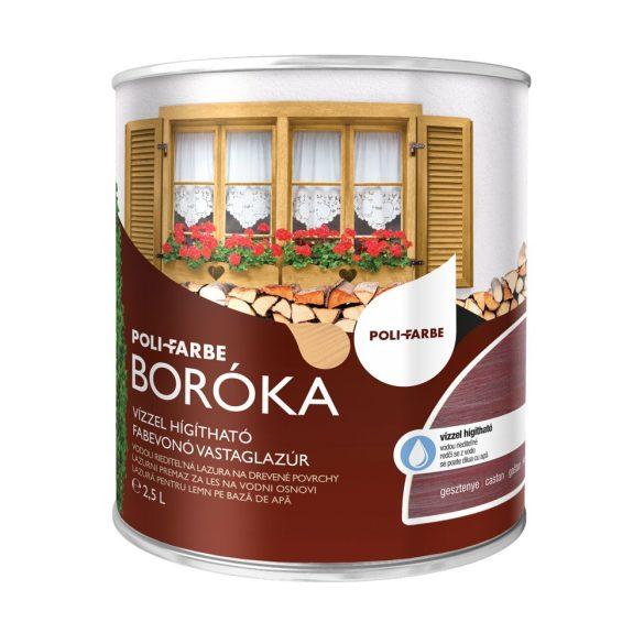 Poli-Farbe Boróka Lazúr Gesztenye 2,5L