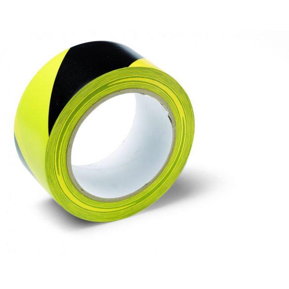 Schuller Warning Tape 50mmx33m, veszélyt jelző ragasztószalag, PVC, sárga/fekete