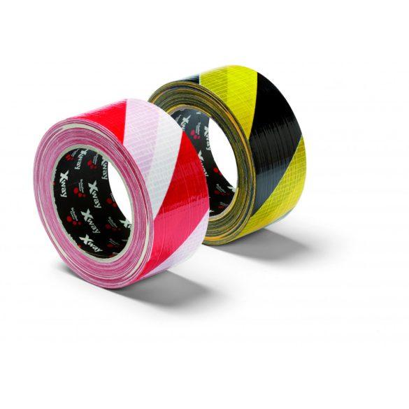Schuller X-Way Warning tape 50mm x 33m, yellow/black, ragasztószalag, szövetbetétes, sárga /fekete