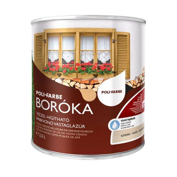 Poli-Farbe Boróka Lazúr Színtelen 2,5L