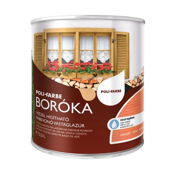 Poli-Farbe Boróka Lazúr Mahagóni 2,5L