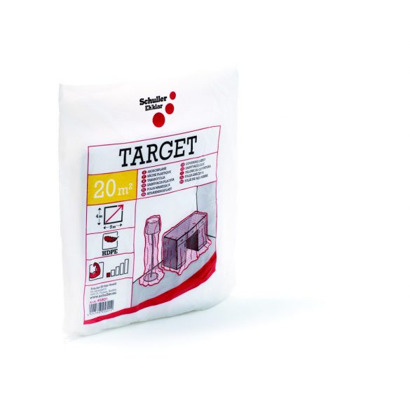 Schuller Target S4 4x5m, takarófólia, HDPE, átlátszó