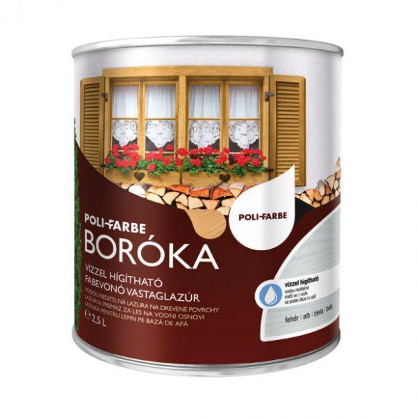 Poli-Farbe Boróka Lazúr Fehér 2,5L