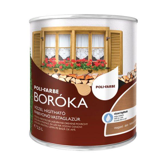 Poli-Farbe Boróka Lazúr Mogyoró 2,5L