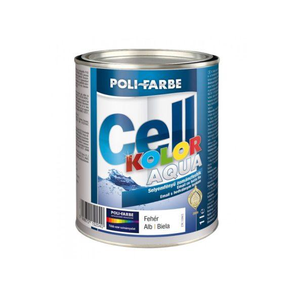 Poli-Farbe Cellkolor Aqua Selyemfényű Zománcfesték Fehér 1L