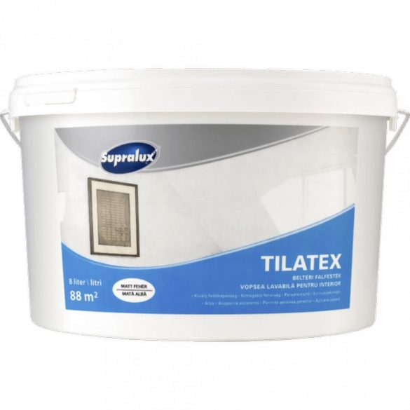 Supralux Tilatex beltéri falfesték fehér 8L