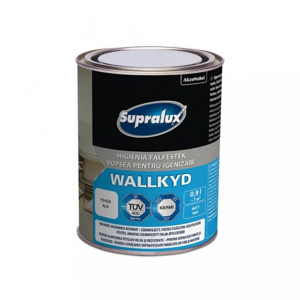 Supralux Wallkyd higiéniai beltéri falfesték fehér 0,9L