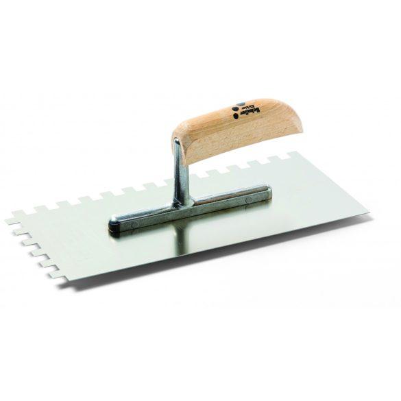 Schuller Stan Karo C4 13x28cm, fogazott glettelő, rozsdamentes, fogazás: 8x8mm