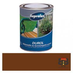 Supralux Durol időjárásálló és korróziógátló zománc barna 1L