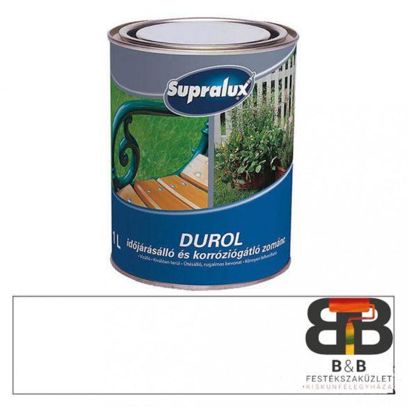 Supralux Durol időjárásálló és korróziógátló zománc fehér 1L
