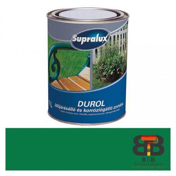 Supralux Durol időjárásálló és korróziógátló zománc fűzöld 1L