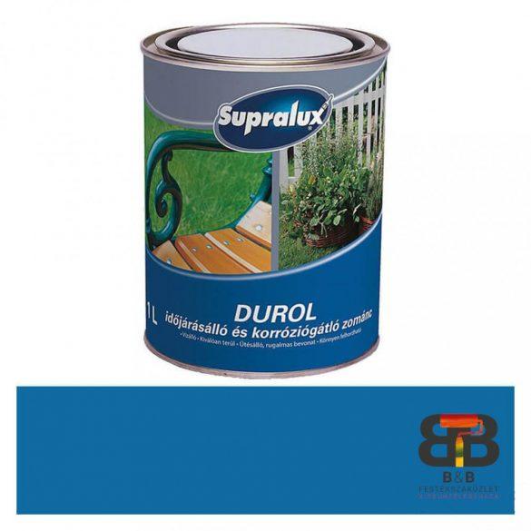 Supralux Durol időjárásálló és korróziógátló zománc kék 1L
