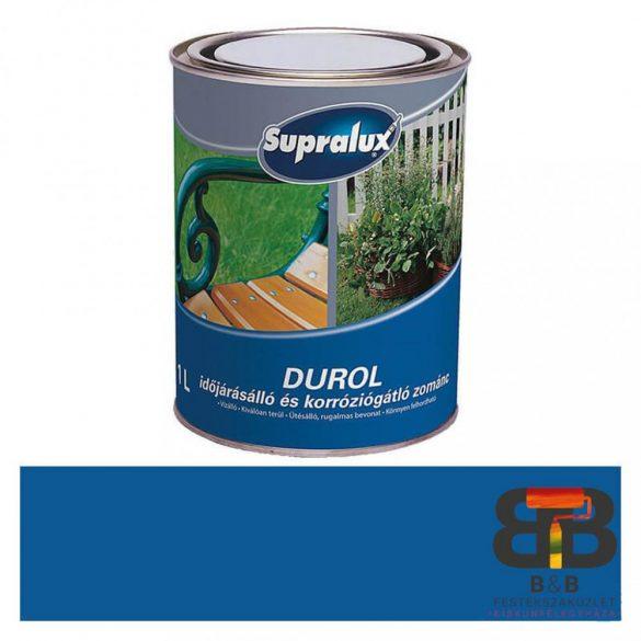 Supralux Durol időjárásálló és korróziógátló zománc középkék 1L