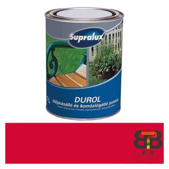 Supralux Durol időjárásálló és korróziógátló zománc piros 1L