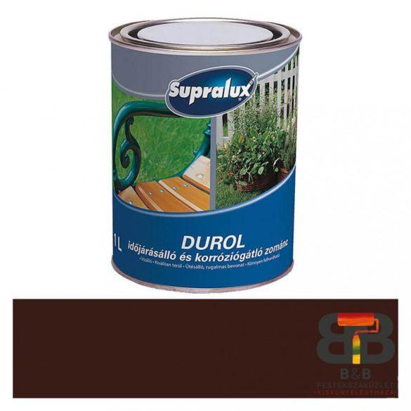 Supralux Durol időjárásálló és korróziógátló zománc sötétbarna 1L