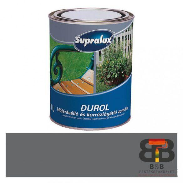 Supralux Durol időjárásálló és korróziógátló zománc szürke 1L