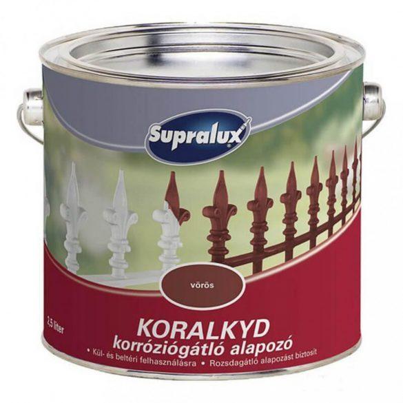 Supralux Koralkyd korróziógátló alapozó vörös 2,5L