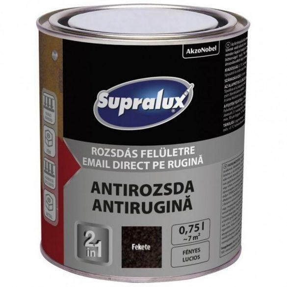 Supralux Antirozsda kalapácslakk fekete 0,75L
